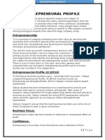 Entrepreneural Profile