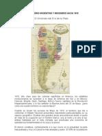 El territorio argentino y misionero hacia 1810