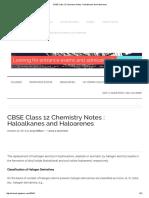 Haloalkanes and Haloarenes Notes Good