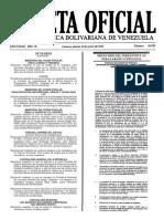 Gaceta Oficial Número 40.925 de la República de Venezuela, 14 de junio de 2016