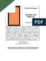 Heidegger - Identitaet Und Differenz