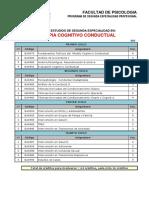 Plan Estudio Terapia Cognitivo Conductual