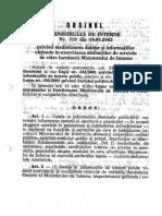 OMAI 319 Din 2002 p. Mediatizarea Datelor Si Info