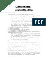 Confronting Marginalisation