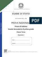 Invalsi Italiano terza media 2016