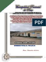 Mejoramiento de Los Servicios Educativos en La Institución Educativa Del Nive