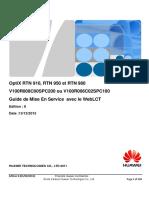 OptiX RTN 9xx Mise en Service Ed8