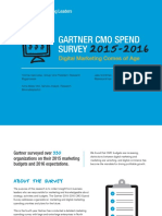 Gartner CMO Spend Survey 2015-2016 - Digital Marketing Comes of Age (GartnerForMarketers.com)