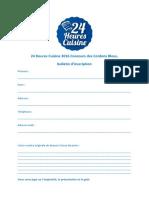 Inscription Concours Cordon Bleu 2016