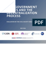 Self-Government Bodies and the Decentralization Process - Evaluation by the Civil Society Organizations