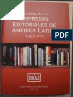 Cobo, Juan Gustavo (2000). Historia de Las Empresas Editoriales en América Latina. Siglo XX. (Historia de La Industria Editorial Colombiana)