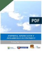 ENPRESA, SINDICATOS Y DESARROLLO ECONOMICO