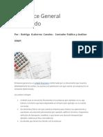 Como Efectuar Un Balance Financiero RGC