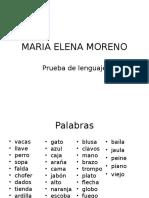 Prueba de Lenguaje Maria Elena Moreno