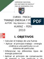 Trabajo Energia y Potencia Mecanica