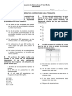 Evaluación de Matemáticas 4° medio estadistica