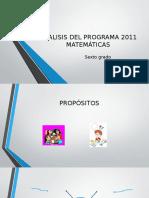 Análisis Del Programa 2011 de Matemáticas