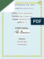 """Evento Social """"Bautizo"""""""