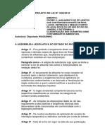 PROJETO DE LEI Nº 1609/2012