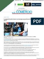 La Gasolina de Menor Octanaje Se Podrá Entregar Hasta El 2017 _ El Comercio