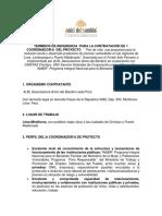 TDR Coordinador Proyecto Pan de Vida