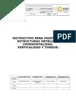 Instructivo Montaje de Estructuras Metálicas