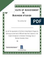 gr 9 business certificatewestlane