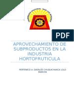 Aprovechamiento de Subproductos en La Industria Hortofruticula