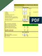 Solar Panel Design 22-8-12