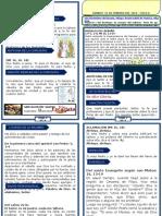 Misal Domingo 23 de Febrero Del 2014