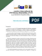IV Encuentro Intercultural de Literaturas Amerindias (EILA)