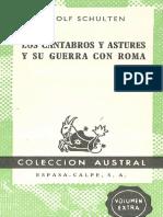 Adolf Schulten - Los Cantabros y Astures