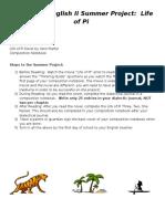 10th Grade English II Summer Project (1)