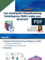 Can Enterprise Manufacturing Intelligence Make You Smarter - Part 1