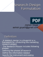 Research Design Formulation