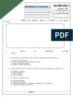 Examen Mensual de Literatura 5to - Seccundaria .Doc
