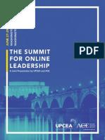 2016 Summit for Online Leadership Program