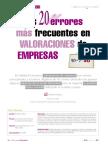 errores de valorizacion de empresas