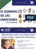 El Dominio de Las Emociones Plantilla de Presentacion ECOP2016