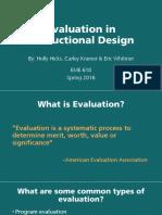 evaluation in instructional design 2