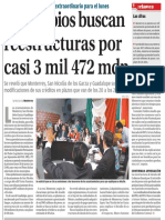 16-06-16 Municipios buscan reestructuras por casi 3 mil 472 mdp
