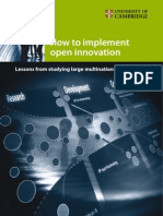 How to implement open innovation