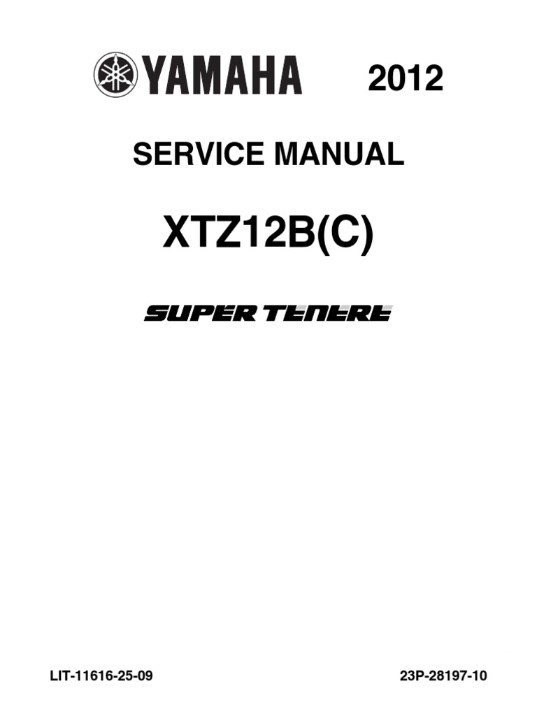 160917020 Yamaha Xt1200z SuperTenere 2012 Service Manual