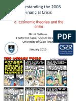 3. Economic Theories of the Crisis