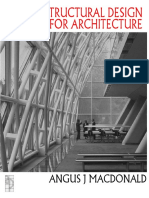 Structural Design for Architecture 1997