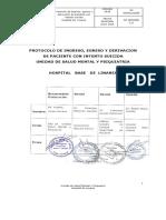 Protocolo de Ingreso, Egreso y Derivación Paciente Con Intento Suicida H. Linares