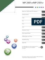 RICOH 2001SP User Manual