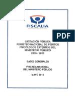 Bases Licitacion Publica Registro Nacional Peritos Psicologos Externos