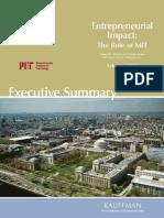 Entrepreneurial Impact the Role of MIT -- ExecSummary