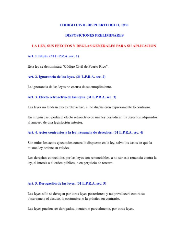 Código Civil de Puerto Rico (1930)
